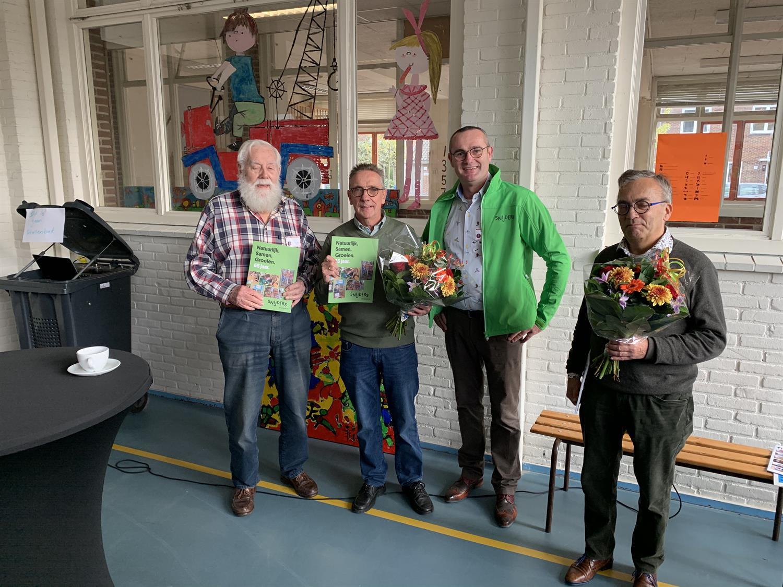Foto met de 4 directeuren van de J.H.Snijdersschool