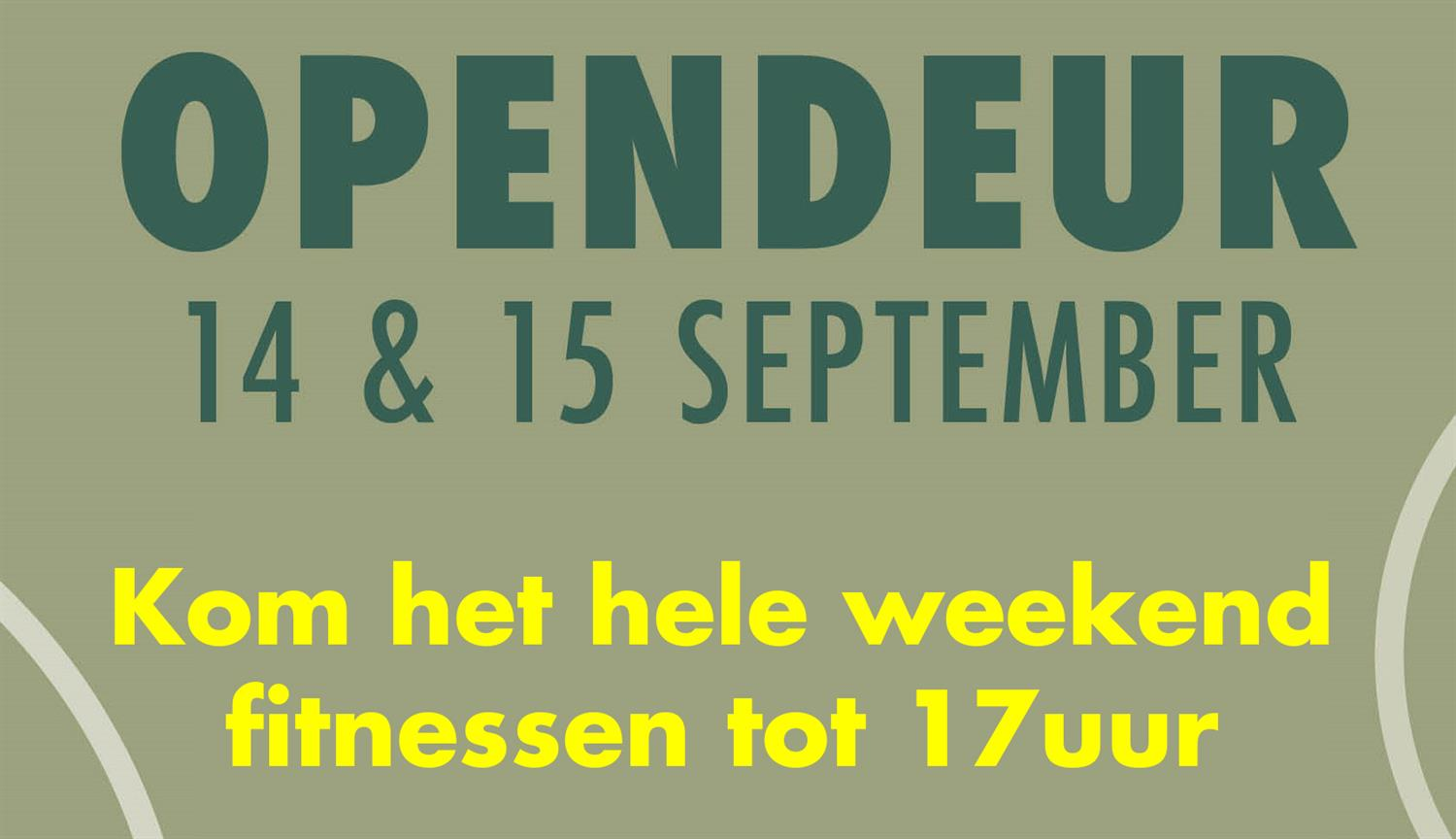 OPENDEUR WEEKEND